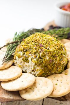 Pistachio-Crusted Vegan Cheese Ball - Jessica in the Kitchen
