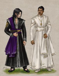 Finery by slugette on DeviantArt - Wearing fine robes, Indian sherwani inspired