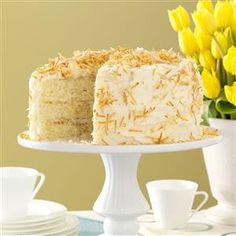 Incredible Coconut Cake Recipe -I found this recipe in a newspaper many years ago and modified it to suit my taste. This is my all-time favorite cake, and my family and friends absolutely love it. —Lynne Bassler, Indiana, Pennsylvania