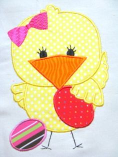 Spring Chicks 03 Machine Applique 5x7 Embroidery by KCDezigns, $3.00