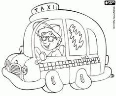 Omalovánka Taxi, servisní vozidlo