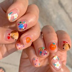 Funky Nails, Dope Nails, My Nails, Colorful Nails, Minimalist Nails, Pretty Nail Art, Cute Nail Art, Nail Swag, Really Cute Nails