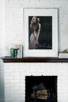 White Brick Fireplace And Mantel Decor On Pinterest White Brick