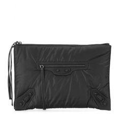 Balenciaga - Classic Pouch fabric clutch - mytheresa.com