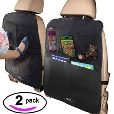 MyTravelAide Kick Mats with Car Backseat Organizer - XL Storage Pocket - 2 Pack - 100 Waterproof - Premium XL Protector for Car Seat Back Backseat Car Organizer, Best Car Seats, Car Seat Protector, Ipad, Unique Cars, Back Seat, Travel Accessories, Pouch, Organization