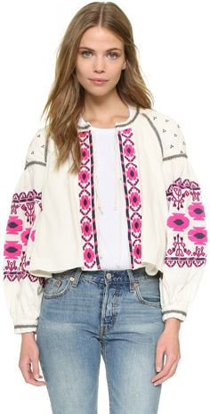 Free People Embroidered Swingy Jacket | SHOPBOP