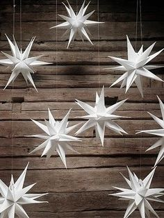 30 Fun and Creative DIY Christmas Origami Daily source for inspiration and fresh ideas on Architecture Art and Design Christmas Origami, Noel Christmas, Winter Christmas, All Things Christmas, Christmas Ornaments, Swedish Christmas, White Ornaments, Diy Ornaments, Christmas Makes