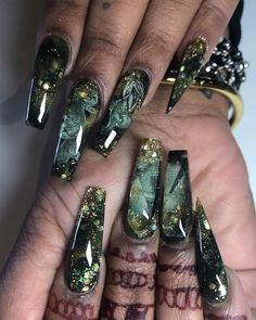 Top awesome coffin nails designs 2019 you must try 42 Sexy Nails, Glam Nails, Dope Nails, Beauty Nails, Glittery Nails, Matte Nails, Pink Nails, Perfect Nails, Gorgeous Nails
