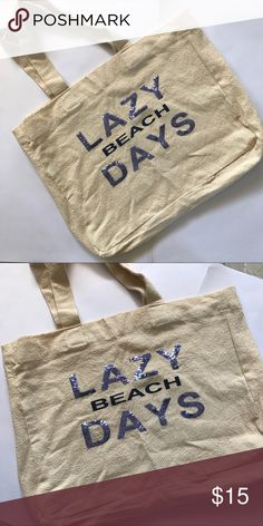 Lazy Beach Days tote Super Cute beach tote bag!  Awesome condition! Perfect  to take all you stuff ti the beach this summer! Lane Bryant Bags Totes