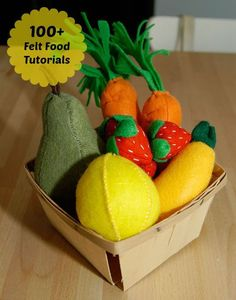 How To Make Felt Food: Our Gigantic List Of Free Online Tutorials And InstructionsOver 150 instructions and tutorials to prepare your own delightful felting.DIY Felt Food Chicken Nuggets Play SetFree felt patterns and tutorial for Sewing For Kids, Diy For Kids, Crafts For Kids, Diy Pour Enfants, Felt Food Patterns, Sewing Patterns, Felt Patterns Free, Felt Fruit, Fruit Box