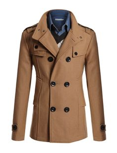Men's Classic Peacoat #mens #fashion #trench