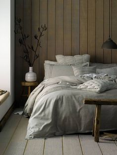 Natural cotton sheet set by Linen House. Stocked by Forty Winks