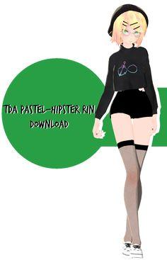 Pastel-Hipster Rin Download by KigiminLen.deviantart.com on @DeviantArt