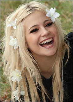 pixie lott flower hair