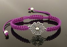 Beautiful Modern Stylish Friendship Macrame Purple por MONADESING