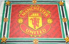#Manchester United UTD Man 1 Duvet Pillow Case Fabric Crafters Soccer 1994 Vintage