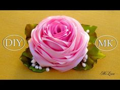Роза из ленты, МК / DIY Satin Rose / DIY Ribbon Rose - YouTube