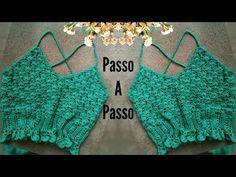 Mode Crochet, Crochet Tunic, Crochet Crop Top, Crochet Clothes, Crochet Hooks, Crochet Bikini, Crochet Applique Patterns Free, Crochet Summer Tops, Crochet Woman