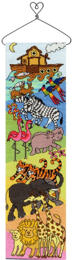 Hang Up Noah's Ark cross stitch kit by Bothy Threads