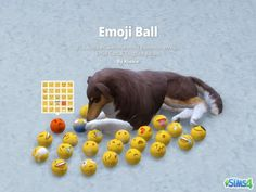 Pet Emoji Ball Toy for The Sims 4 by Kliekie