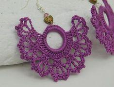 Crochet earrings - Large croch