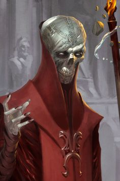 """jorphdan: """"Researching this guy for an upcoming video on the Red Wizards of Thay. This is Szass Tam, lich extraordinaire. """""""