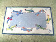 Pottery Barn Kids rug airplanes planes #PotteryBarnKids