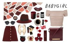 """Joana's red wine"" by bitchy-af ❤ liked on Polyvore featuring Miss Selfridge, Paul Andrew, Topshop, The Row, Bobbi Brown Cosmetics, rag & bone, Tom Ford, NARS Cosmetics, Burt's Bees and Byredo"
