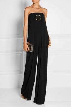 Stella McCartney | Strapless wool-twill jumpsuit | NET-A-PORTER.COM