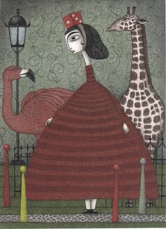 """Saatchi Art Artist Judith Clay; Drawing, """"Sunday Excursion to the Zoo"""" #art"""