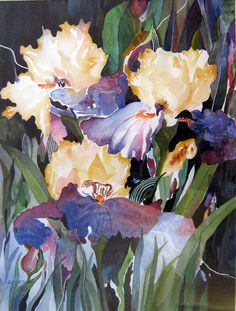 """Iris Garden,"" watercolor by Britt McNamee"