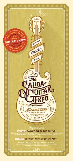 keywords: poster graphic design typography guitar music festival vintage distressed - TYPOGRAPHY IDEAS
