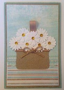 Kort med blomsterkurv