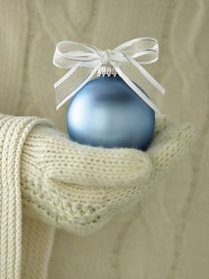 Treasures to Hold ~ Christmas Blue Ornament