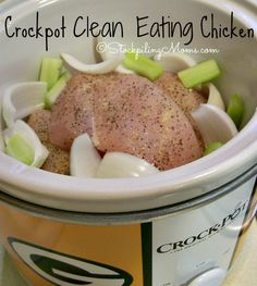 Crockpot Clean Eating Chicken is gluten free and Whole 30 complaint!
