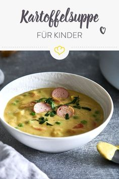 Cremige Kartoffelsuppe für Kids potato al horno asadas fritas recetas diet diet plan diet recipes recipes Potato Recipes, Vegetable Recipes, Soup Recipes, Healthy Recipes, Healthy Soups, Soups For Kids, Creamy Potato Soup, Vegetarian Meals For Kids, Quick Meals