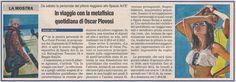 """In viaggio con la metafisica quotidiana di Oscar Piovosi, """"Prima Pagina"""", 15 gennaio 2013, p. 34. #SpazioArtÉ, #mostra personale #OscarPiovosi, 19 gennaio 2013 - 27 febbraioo 2013. Info: www.oscarpiovosi.it"""
