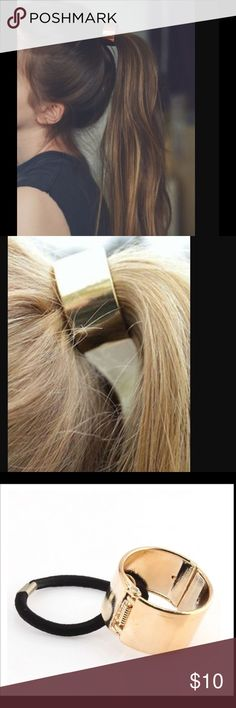 Gold hair cuff Cute gold hair cuff.  Pony tail holder.   Perfect fir a stocking stuffer. Accessories Hair Accessories