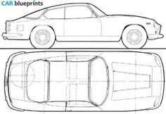 1966 Lancia Flaminia Super Sport Zagato Coupe blueprint