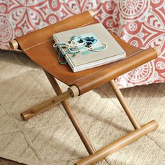 Cooper Leather Stool: Our re-interpretation of a campaign stool, made more modern and substantial. #serenaandlily