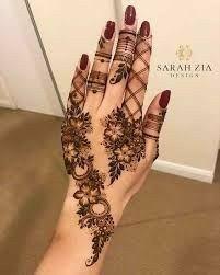 Henna Flower Designs, Pretty Henna Designs, Modern Henna Designs, Latest Henna Designs, Finger Henna Designs, Arabic Henna Designs, Flower Henna, Mehndi Designs For Fingers, Best Mehndi Designs