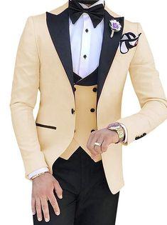 ZZer 3 Pieces Suits for Men (Jacket+Pant+Vest+bowtie) – Keziah & Co Dress Suits For Men, Suits For Sale, Green Wedding Suit, Wedding Suits, Purple Suits, Black Suits, Black Tuxedo, Three Piece Suit, 3 Piece Suits