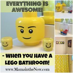 Everything is Awesome When you Have a LEGO Bathroom. Unique DIY accessories included that you wouldn't normally think of for a LEGO bathroom! #LEGO #Bathroom