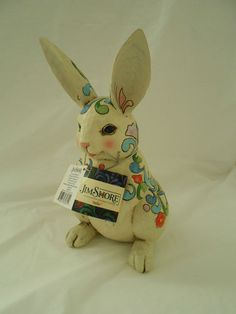 """Jim Shore """"Billie"""" the Bunny 2012 Outdoor Living Collection New with Tag   bb"""