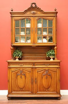 Antique French Walnut 2 Height Bookcase China Cabinet Cupboard Buffet Sideboard Victorian Furniture, Classic Furniture, Antique Furniture, Antique Sideboard, Sideboard Buffet, Wardrobe Cabinets, China Cabinets, Antique Interior, Buffets