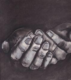 Pray. #charcoal #drawing #art
