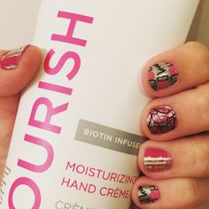 Newest Jamicure! Jamberry Rockin My Dots (Disney Collection by Jamberry), Mulberry lacquer, Shining Personality! Love the feel of our Nourish hand cream!