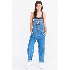 a8f734ec Tommy Jeans For UO '90s Dungaree Overall ($100) ❤ liked on Polyvore  featuring
