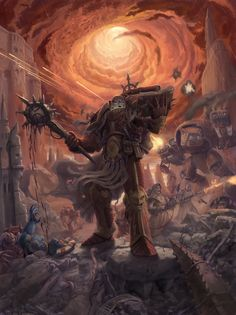 Lorgar: Bearer of the Word by Jeff Porter Warhammer 40k Art, Warhammer Models, Warhammer 40k Miniatures, Warhammer Fantasy, Lovecraftian Horror, The Horus Heresy, The Grim, Geek Art, Space Marine