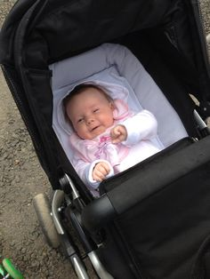 A lovely picture of Tilly smiling in her Apple carrycot. Thank you Jo Bass for sharing!
